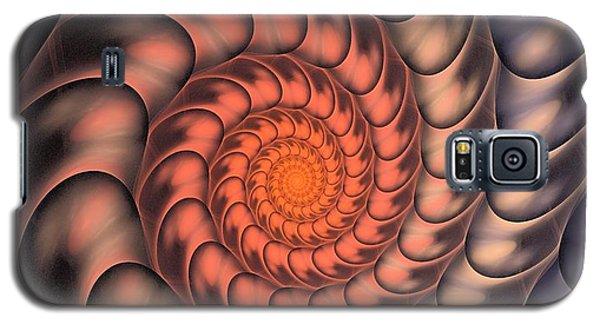 Galaxy S5 Case featuring the digital art Spiral Shell by Anastasiya Malakhova