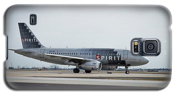 Galaxy S5 Case featuring the photograph Spirit Airlines A319 Airbus N523nk Airplane Art by Reid Callaway