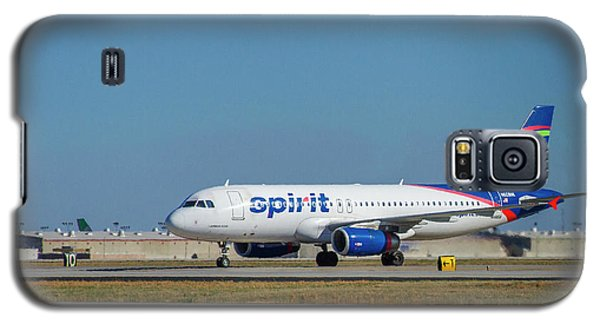Galaxy S5 Case featuring the photograph Spirit Airlines Airbus A320 N608nk Airplane Art by Reid Callaway