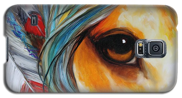 Spirit Eye Indian War Horse Galaxy S5 Case