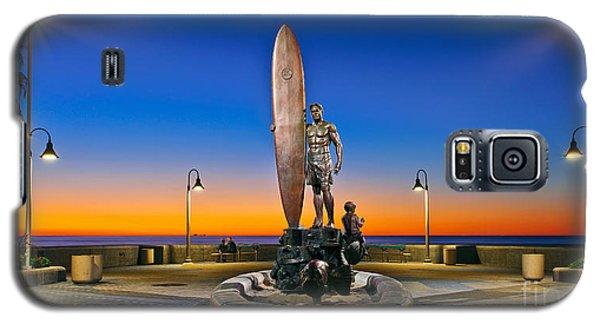 Spirit Of Imperial Beach Surfer Sculpture Galaxy S5 Case