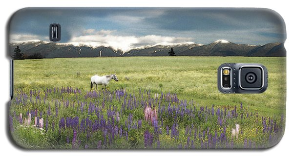 Spirit Pony In High Country Lupine Field Galaxy S5 Case