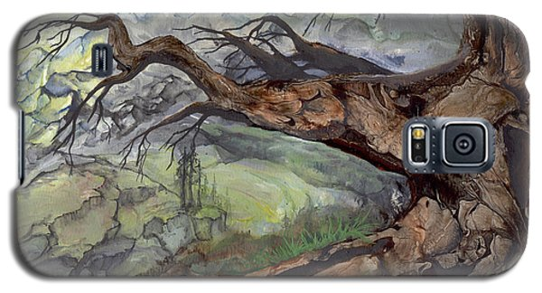 Galaxy S5 Case featuring the painting Spirit Tree by Sherry Shipley