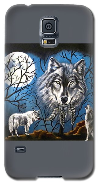 Galaxy S5 Case featuring the painting Spirit Wolf by Teresa Wing