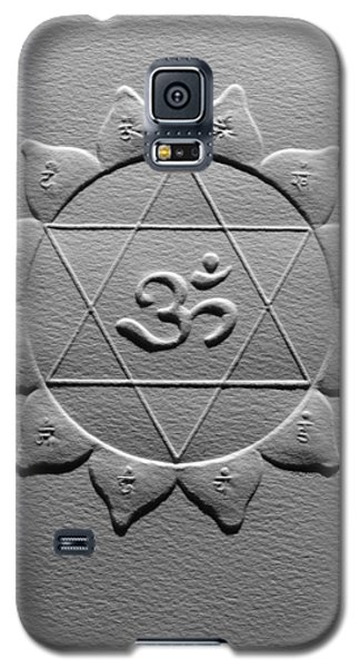Galaxy S5 Case featuring the relief Spiritual Om Yantra by Suhas Tavkar