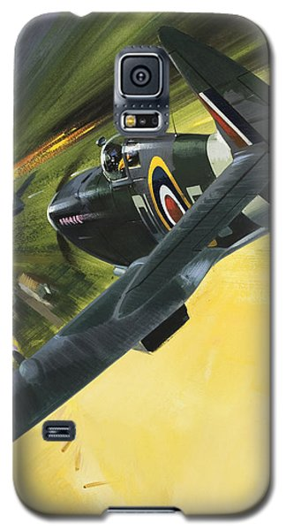 Spitfire And Doodle Bug Galaxy S5 Case by Wilf Hardy