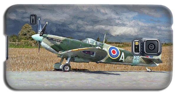 Spitfire Under Storm Clouds Galaxy S5 Case by Paul Gulliver