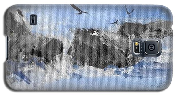 Galaxy S5 Case featuring the painting Splash by Helen Harris