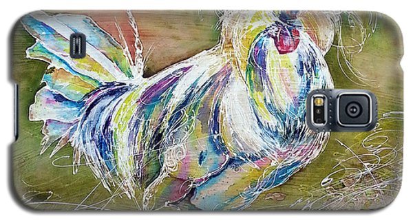 Galaxy S5 Case featuring the painting Splash White Polish Chicken by Christy  Freeman