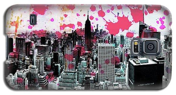 Empire State Building Galaxy S5 Case - Splatter Pop by Az Jackson