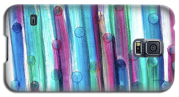 Galaxy S5 Case featuring the painting Splatterdash by Tom Druin