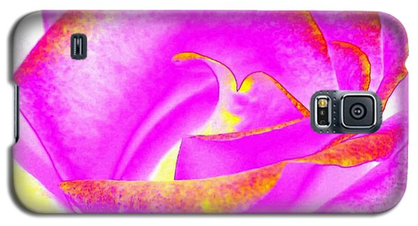 Galaxy S5 Case featuring the mixed media Splendid Rose Abstract by Will Borden