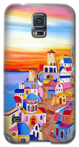 Splendid Santorini Sunset My Way Galaxy S5 Case by Roberto Gagliardi