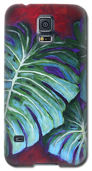 Split Leaf Philodendron Galaxy S5 Case