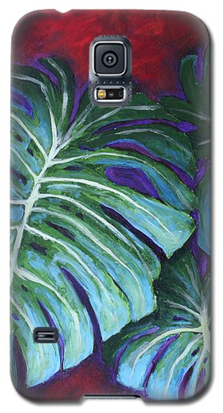 Split Leaf Philodendron Galaxy S5 Case by Phyllis Howard