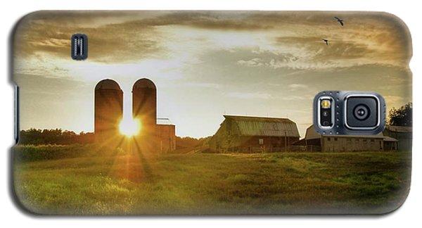 Split Silo Sunset Galaxy S5 Case by Benanne Stiens