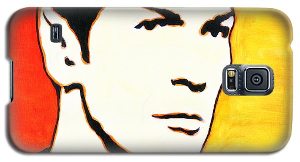Galaxy S5 Case featuring the painting Spock Vulcan Star Trek Pop Art by Bob Baker