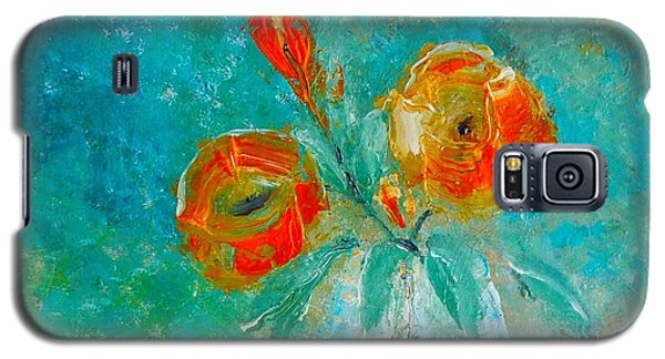 Palette Knife Floral Galaxy S5 Case by Lisa Kaiser