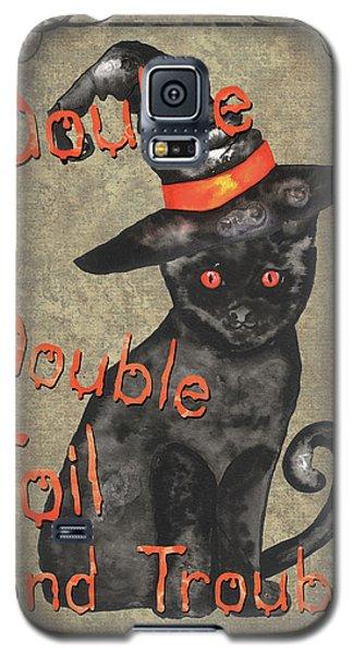 Bat Galaxy S5 Case - Spooky Pumpkin 3 by Debbie DeWitt