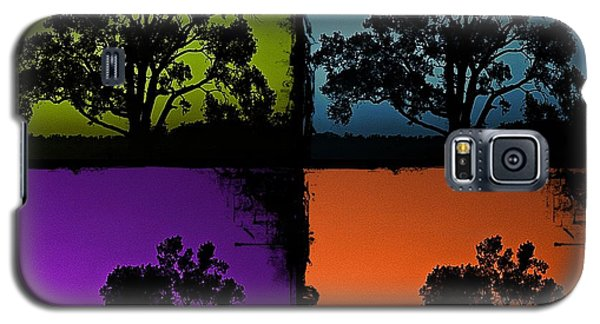 Galaxy S5 Case featuring the photograph Spooky Tree- Collage 1 by KayeCee Spain