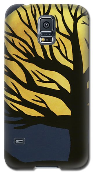 Spooky Tree Yellow Galaxy S5 Case