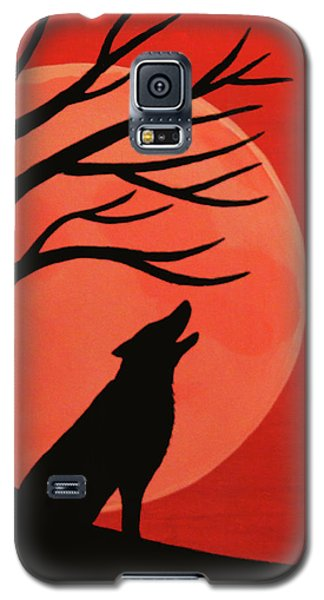 Spooky Wolf Tree Galaxy S5 Case