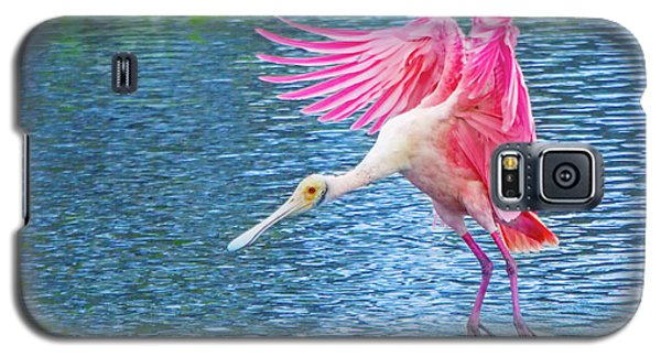 Spoonbill Splash Galaxy S5 Case by Mark Andrew Thomas