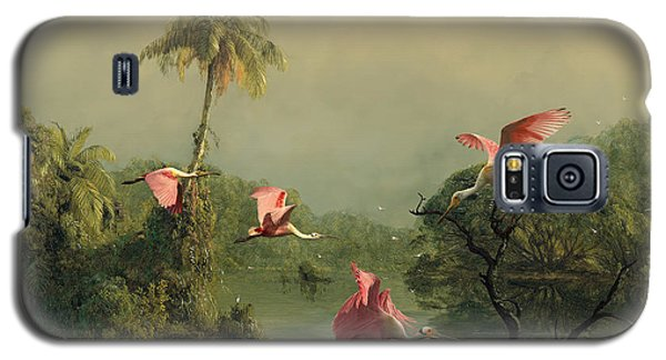 Spoonbills In The Mist Galaxy S5 Case