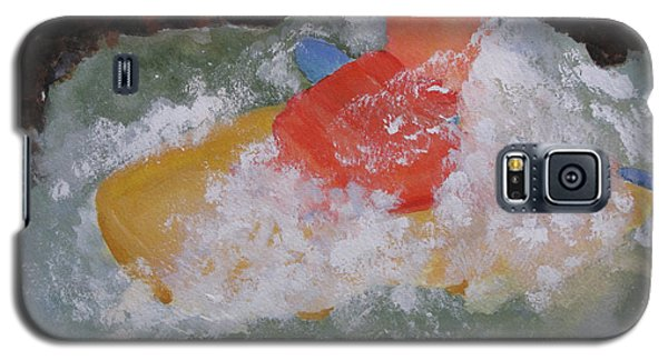 Galaxy S5 Case featuring the painting Spray by Sandy McIntire