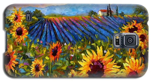 Galaxy S5 Case featuring the painting Spread A Little Sunshine by Chris Brandley