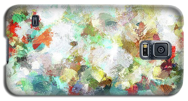 Galaxy S5 Case featuring the painting Spring Abstract Art / Vivid Colors by Ayse Deniz