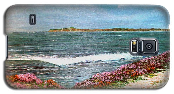 Galaxy S5 Case featuring the painting Spring At Half Moon Bay by Dee Davis