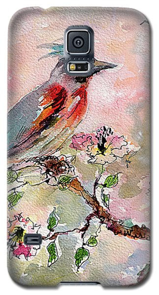 Spring Bird Fantasy Watercolor  Galaxy S5 Case by Ginette Callaway