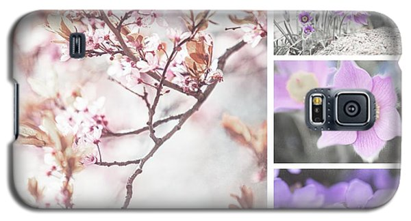 Galaxy S5 Case featuring the photograph Spring Bloom Collage 1. Shabby Chic Collection by Jenny Rainbow