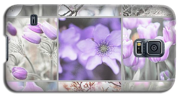 Galaxy S5 Case featuring the photograph Spring Bloom Collage. Shabby Chic Collection by Jenny Rainbow