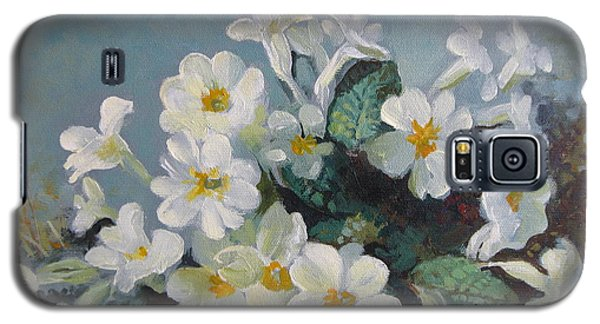 Galaxy S5 Case featuring the painting Spring Blooms by Elena Oleniuc