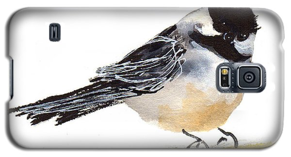 My Little Chickadee Bird Art Watercolor And Gouache And Ink Painting By Kmcelwaine Galaxy S5 Case