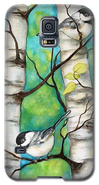 Spring Chickadees Galaxy S5 Case