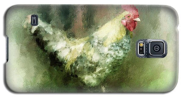 Galaxy S5 Case featuring the digital art Spring Chicken by Lois Bryan