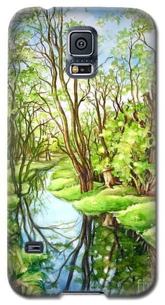 Galaxy S5 Case featuring the painting Spring Creek by Inese Poga