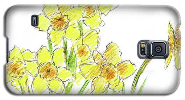 Galaxy S5 Case featuring the painting Spring Daffodils by Cathie Richardson