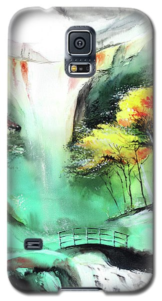 Galaxy S5 Case featuring the painting Spring Fall by Anil Nene