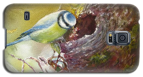 Galaxy S5 Case featuring the painting Spring Feeding by Patricia Schneider Mitchell