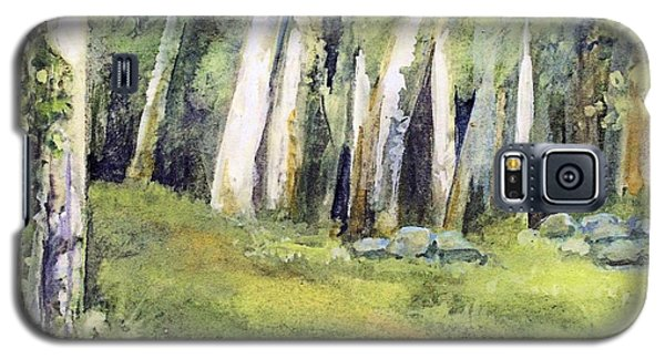 Galaxy S5 Case featuring the painting Spring Field by Laurie Rohner