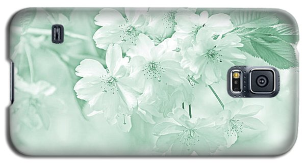 Galaxy S5 Case featuring the photograph Spring Flower Blossoms Teal by Jennie Marie Schell