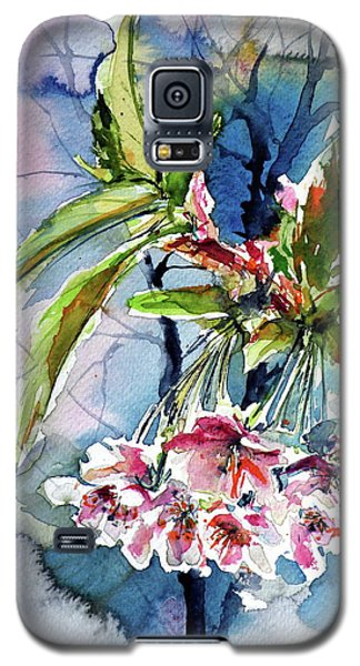 Galaxy S5 Case featuring the painting Spring Flower by Kovacs Anna Brigitta