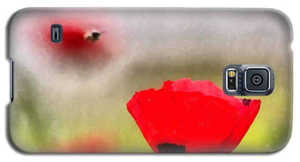 Spring Flowering Poppies Galaxy S5 Case