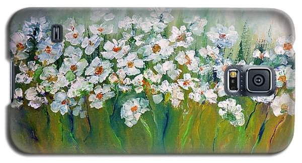 Galaxy S5 Case featuring the painting Spring Flowers by AmaS Art