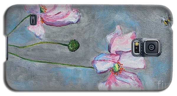 Galaxy S5 Case featuring the painting Spring Flowers  by Reina Resto