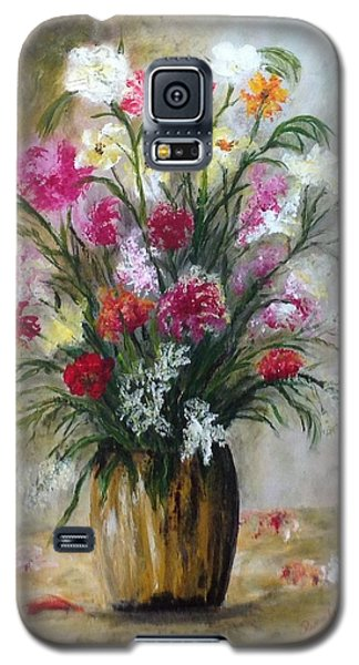 Galaxy S5 Case featuring the painting Spring Flowers by Renate Voigt